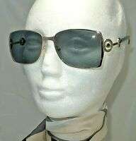 BOUCHERON SUNGLASSES BOU 24/S 15G A2 55-17 135  16 GOLD WITH GREEN LENS