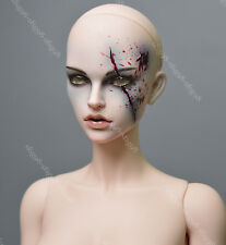 1/3 bjd doll dolls only doll head with face make up scar woman