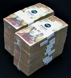 2007-2014 Venezuela $100 Bolivares 2 Used Bricks 2000 Pcs Banknotes