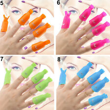 Multiple Style Plastic Nail Art Soak Off Clip Cap UV Gel Polish Remover WrapTool