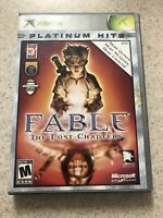 Fable: The Lost Chapters Platinum Hits (Microsoft Xbox, 2005) Complete-Tested
