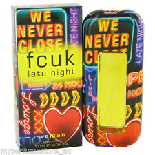FCUK LATE NIGHT WOMAN 100ml EDT SPRAY BY FRENCH CONNECTION UK ---- NEW PERFUME #