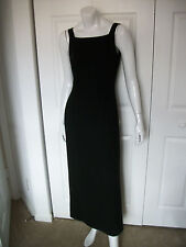 WMNS 6 LONG SIMPLE BLACK SLEEVELESS SQUARE NECK DRESS by HAROLDS