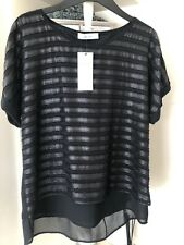 Marks And Spencers Per Una Black Top  New Sizec 12