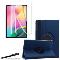 Housse Etui Bleu pour Samsung Galaxy Tab A 10.1 2019 T510 + Vitre de protection