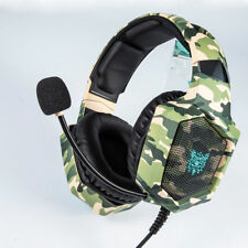 Gaming Headset Wired 3.5mm for PS4 Nintendo New Xbox PC Camouflage Headphones K8