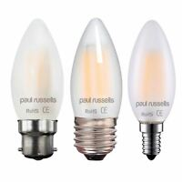 LED Pearl Candle 2W=25W 4w=40w B22 E27 E14 Frosted Filament Light Bulbs A+