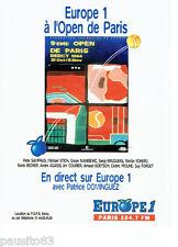 PUBLICITE ADVERTISING 056  1994   Open de tennis Paris Bercy & Europe 1 radio