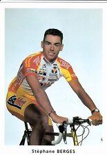 CYCLISME carte cycliste STEPHANE BERGES équipe BIG MAT AUBER 93