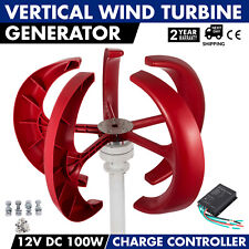 12V Lantern Wind Turbine Generator Vertical Axis 5Blades+Controller 100W TOP!!