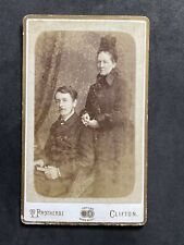Victorian Carte De Visite CDV: Couple In Mourning : Protheroe: Bristol