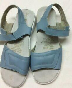 Blue Free Step Ladies Comfortable Leather Sandals Sz 6UK