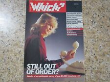 June 1988, WHICH MAGAZINE, SLR Cameras, Chest Freezers, Wood Sanders.