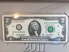 New Uncirculated 2003A $2 Note from 2011 BEP Limited Edition
