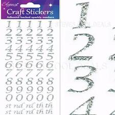 Craft CLEAROUT Set of 2 Eleganza Adhesive Stickers Stylised Numbers Gold Silver