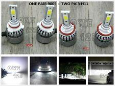 9005+H11 6000K WHITE Combo LED Headlight Bulbs Kit High Low Beam Super Bright
