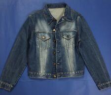 Jeans giacca donna usato jacket giacchetta size S giubbotto blu vintage T466