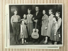 New ListingSound Of Music cast . Original vintage press photo . Tv