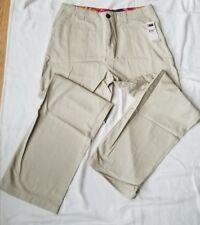 NWT CHAPS Ralph Lauren Classic Chino Tan Khaki Flat Adj Waist Boys Dress Pant 18