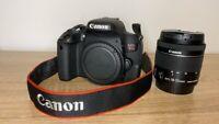 Canon - EOS Rebel T7i DSLR Video Camera with EF-S 18-55mm IS STM Lens - Black