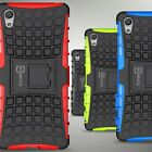 For Sony Xperia X Case Hard Protective Kickstand Dual Layer Hybrid Phone Cover