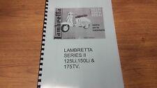 LAMBRETTA SERIES 2 125Li 150Li & 175TV PARTS BOOK MANUAL - LAM05