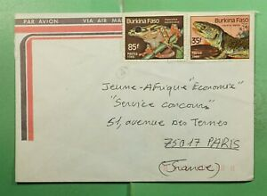 DR WHO BURKINA FASO AIRMAIL TO FRANCE FROG  g13709