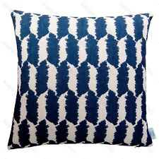MULBERRY Stylish Home Decor Linen Cotton Cushion/Throw Pillow Cover Black/White