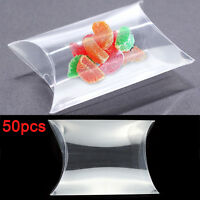 Perfect 50P Pillow Favor Gift Box Wedding Party PVC Candy Snacks Candy Wraps