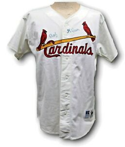 Bob Gibson Signed Russell Diamond Collection Jersey Cardinals Beckett BAS Y54556