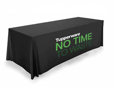 Tupperware No Time to Waste Logo Tablecloth Award Black New