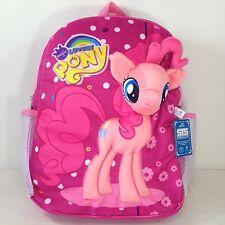 f76e3c5afd80 My Little Pony Pink Plush Girls School Bag Backpack Rucksack Purse Satchel  15