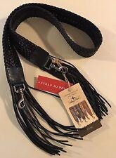 NWT Patricia Nash Leather Handbag Guitar Shoulder Strap Adjustable Fringe Braid