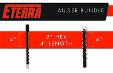 "Skid Steer Auger Package - Eterra Brand - 4"" & 6"" Auger Bits"