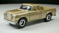 1960s Studebaker Truck 1/64 Diecast Diorama Car Gold Black Interior