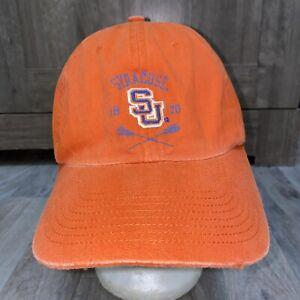 NWT Pro Player Syracuse Orangemen Lacrosse Hat Adjustable Distressed Orange Cap