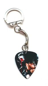 Guitar Pick Plectrum Key Ring Snake Chain KISS Gene Simmons Demon bat blood fob