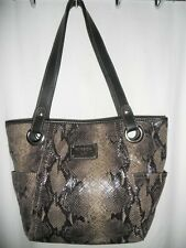 RELIC BRAND COLLECTION Reptile Skin Design Satchel Shoulder Bag VGUC