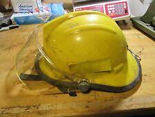 Bullard Firedome II Firefighter Fire Helmet FH2100 Face Shield neck guard yellow