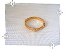 Magnifique Bracelet Fantaisie Rond Doré Maille Serpent Strass Qudo Neuf