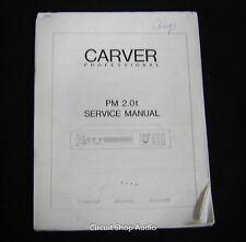 Original Carver PM-2.0t Amplifier Service Manual