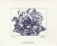 Czeslaw Slania's 1000th stamp engraving limited edition of 1,200 copies + stamps