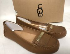 UGG Australia Royce Chestnut Driving Moccasin Moc Leather Flats Oxfords 1017293