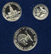 1776-1976 US mint bicentennial silver proof set 0f 3 coins