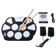 Drum Portable Electronic Roll Up Kit Pad Digital Stick Musical Instrument Usb 9