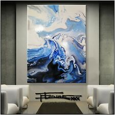 Abstract Painting  Modern Canvas Wall Art, RESIN, Large, Framed US ELOISExxx