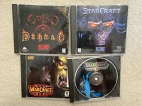 Lot of 4 Blizzard PC Games Diablo Starcraft Warcraft Reign of Chaos Tides