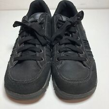 Skechers USA Grand Jams-Replenish Womens Black Leather Oxford Sneaker Shoes 9 M