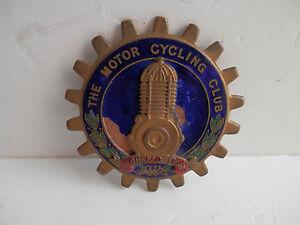 The Motor Cycling Club. Car Club Badge.