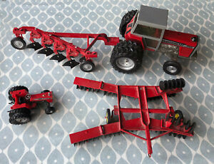 ERTL Model Massey Ferguson  2805 Large Scale Tractor and Farming Tools